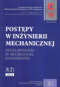POSTĘPY W INŻYNIERII MECHANICZNEJ. Developments in mechanical engineering  3(2) 2014